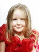 Cute little girl dressed like a princess, close-up portrait — Stock Photo