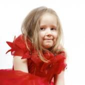 Cute little girl dressed like a princess, close-up portrait — Fotografia Stock
