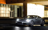 Luxury sport car night view — 图库照片