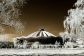 Moscow grand circus infrared view — Stock Photo