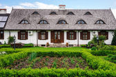 Typical alsacien house in small village, Bas-Rhin — Stock Photo