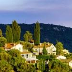 Modern villas in Nice view, sunset, summer — Stock Photo #81597356