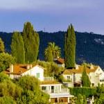 Modern villas in Nice view, sunset, summer — Stock Photo #81597532