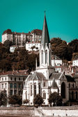 Lyon city landscape view, France — Stock Photo