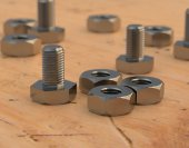 Bolts and nuts — Stock Photo