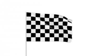 Schack flagga — Stockvideo