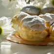 Cream puff or profiterole cakes — Stock Photo #57490903
