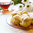 Cream puff or profiterole cakes — Stock Photo #57490907