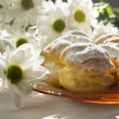 Cream puff or profiterole cakes — Stock Photo #57656559