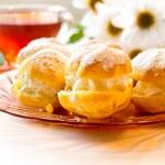 Cream puff or profiterole cakes — Stock Photo #57656729