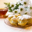 Cream puff or profiterole cakes — Stock Photo #57656741