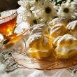 Cream puff or profiterole cakes — Stock Photo #57656791