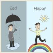 Sadness and Joy — Stock Vector