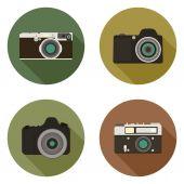 Modern flat camera icons — Stock Vector