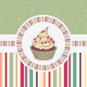 Funny card with cupcake — Stock Vector