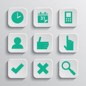 Vector illustration of apps icon set — Wektor stockowy