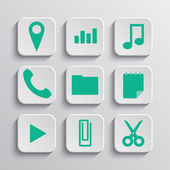 Set of app vector icons — Stock Vector