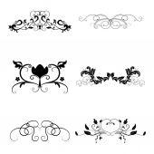 Calligraphic design elements set — Stock Vector