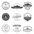 Camping labels set — Stock Vector #63236815