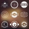 Vintage retro coffee logo badges and labels — Stock Vector #63276281