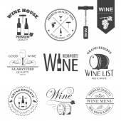 Vektör şarap etiketleri — Stok Vektör