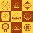 Set of vintage bakery labels, badges and design elements — Stock Vector #64701217
