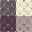 Seamless patterns with skulls — Stock Vector #65905897