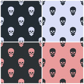 Seamless pattern with skull — Stockvektor