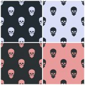 Seamless pattern with skull — Vettoriale Stock