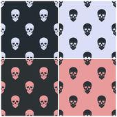 Seamless pattern with skull — Wektor stockowy