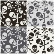 Seamless pattern with skulls — Stock Vector #65927101
