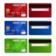 Set of realistic credit card two sides isolated on white background. — Stock Vector #66831565