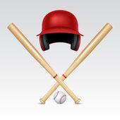 Baseball equipment — Stock Vector