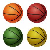 Set of basketballs — Stock Vector