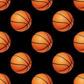 Basketball seamless pattern. — Stock Vector