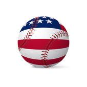 Bandeira de beisebol dos Eua, isolado no fundo branco — Vetor de Stock