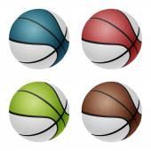 Vector basketballs — Stock Vector