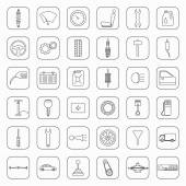 Thirty six car parts icons — Stock Vector