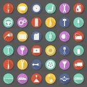 Car parts icons set — Stock Vector