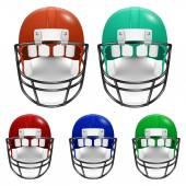 Football Helmets set — Stock Vector