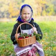 Girl with a basket of berries, nature — Stock Photo #57884323