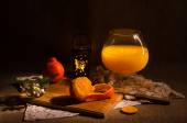 Tangerines and tangerine juice — Stock Photo
