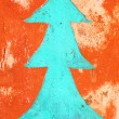 Concrete, weathered, worn wall Christmas tree. Grungy Concrete S — Stock Photo #59563981