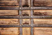 Creative textured background old wood, wrought iron stylized med — Stock Photo
