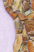 Twórczy tle kamienny mur z dużych kamieni naturalnych, unusua — Zdjęcie stockowe