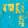 Abstract background concrete painted blue, yellow paint, weather — Stock Photo #68521119