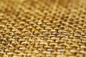Background of the old fibers draped canvas, selective focus — Stock Photo