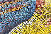 Old diagonal colorful mosaic texture on the wall — Stock Photo