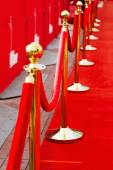 Way to success on the red carpet (Barrier rope) — Stock Photo