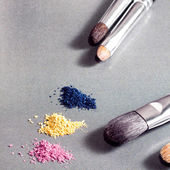 Eyeshadows brushes for make up differnt size  — Stock Photo